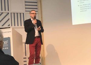 Oliver Fründt als Referent im Fachforum der Home²-Immobilienmesse, Hamburg-Messe